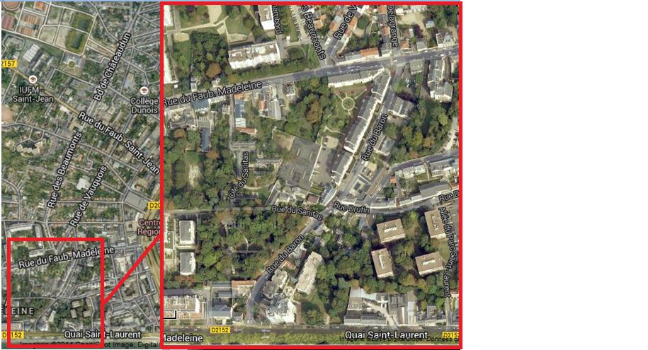 Parcours de liaison cyclable à définir entre Dunois et la Loire