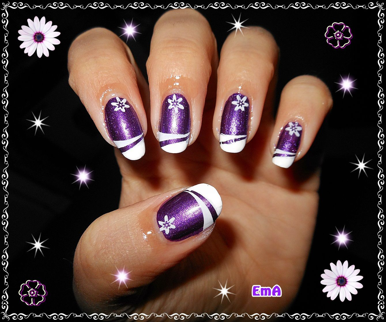 Stamping french sur Kleancolor  - Metallic Purple