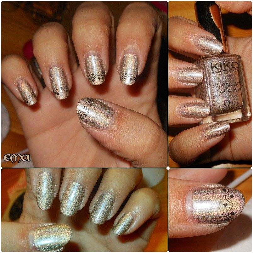 Kiko holographic nail laquer - Silk Taupe et Steel grey