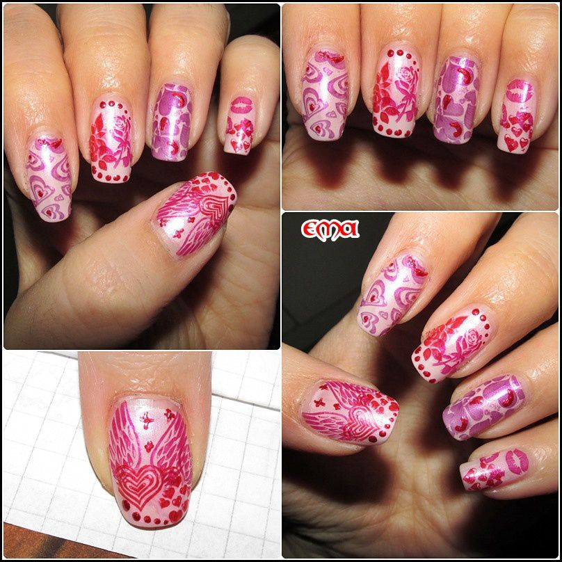 Concours stamping Saint Valentin - krykry nails