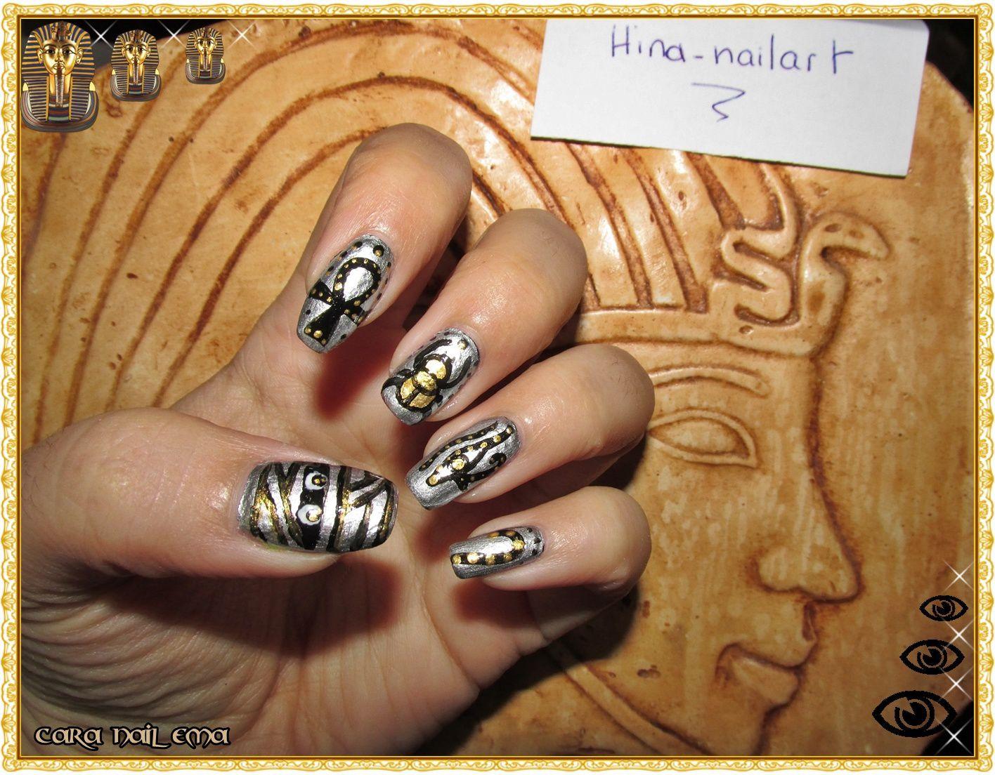 Concours chez Hina nail art - Egypte