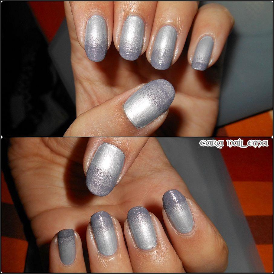 Dégradé de gris et stamping pueen 33