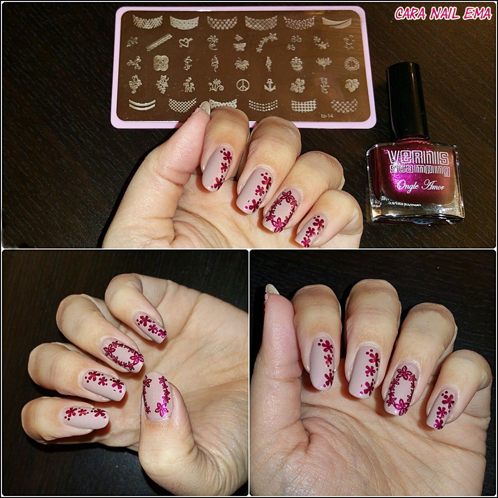 Peggy sage &quot&#x3B;Nude Elégance&quot&#x3B; et son stamping fleuri - review Staming Nail France