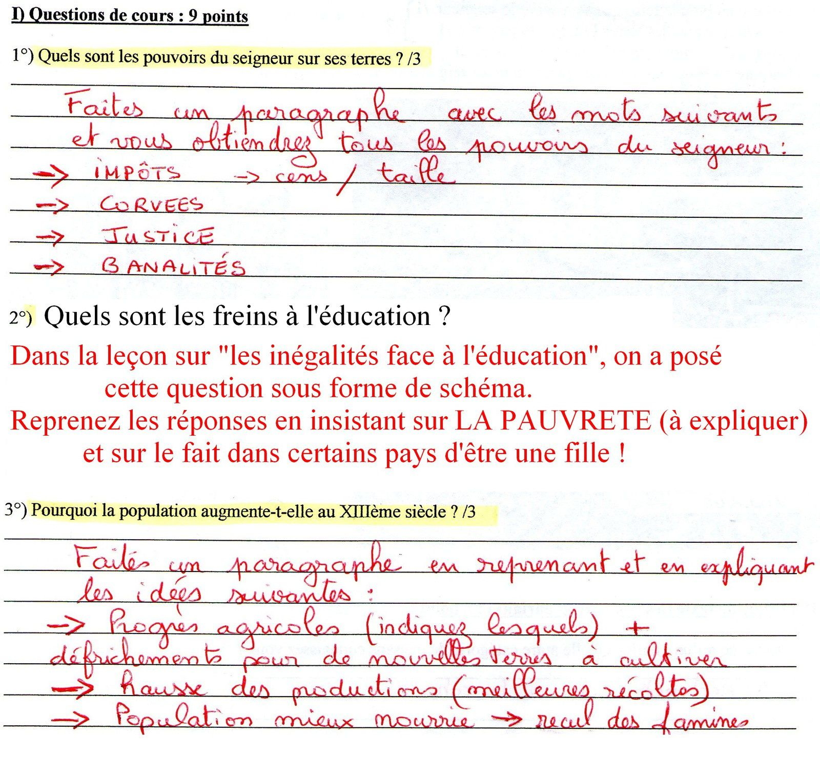 CORRECTION DU DEVOIR