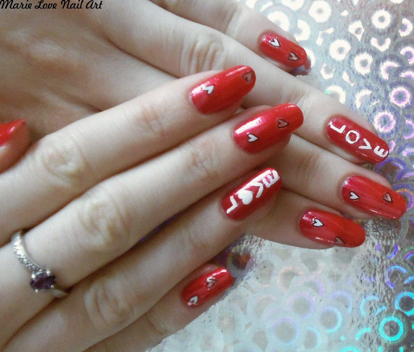 Nail art St-Valentin