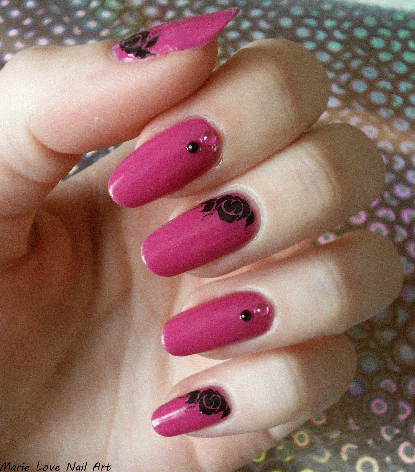 Nail art - Pink &amp&#x3B; Flowers