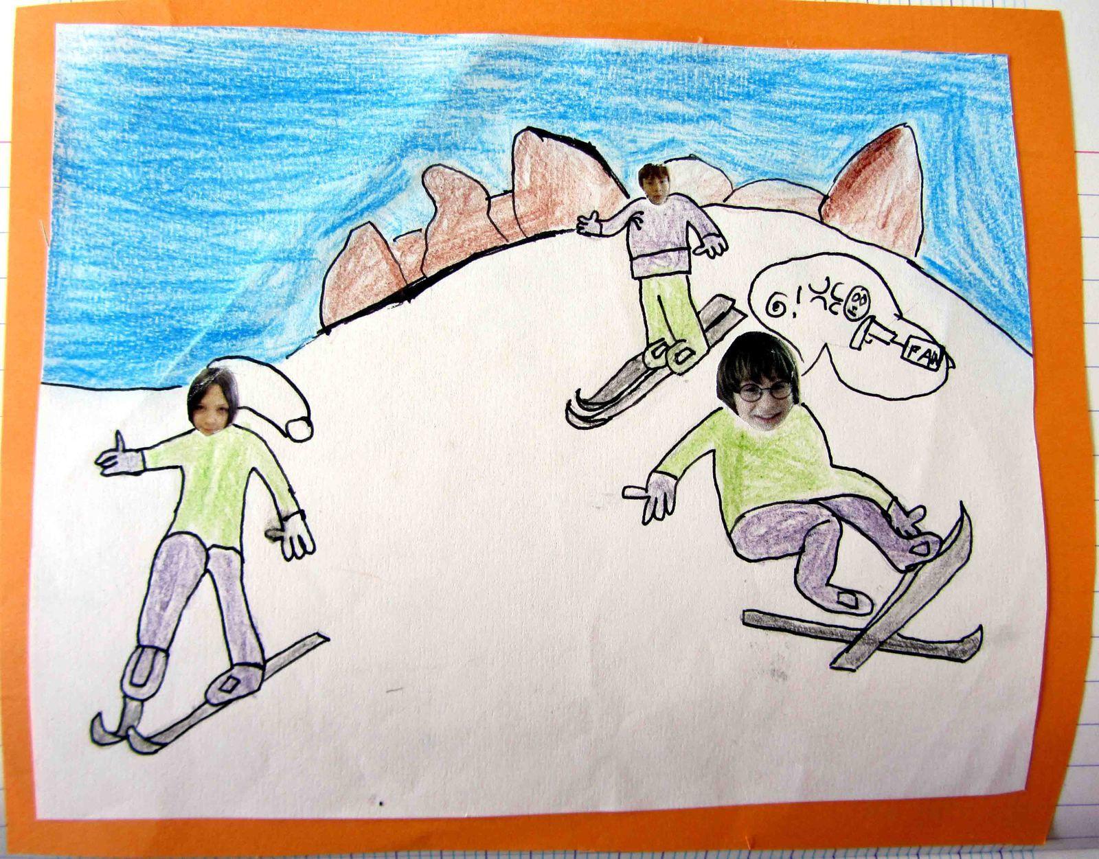 Dessinons-nous en train de skier au Pré-Poncet!