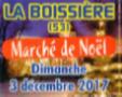 LA BOISSIERE : Marché de Noël le dimanche 3 décembre 2017