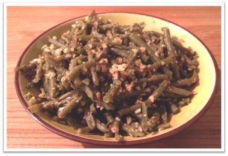Haricots verts à l'ail et aux amandes