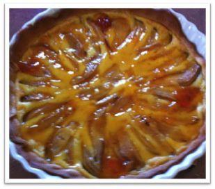 Tarte aux poires et mascarpone