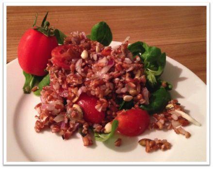 Salade de riz rouge