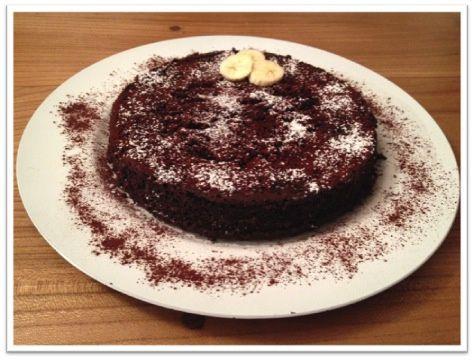 Fondant au chocolat noir et à la banane