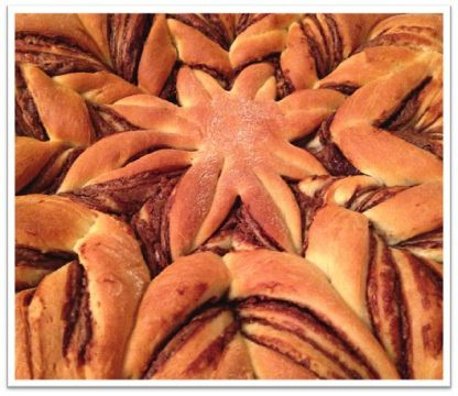 Brioche étoilée au Nutella