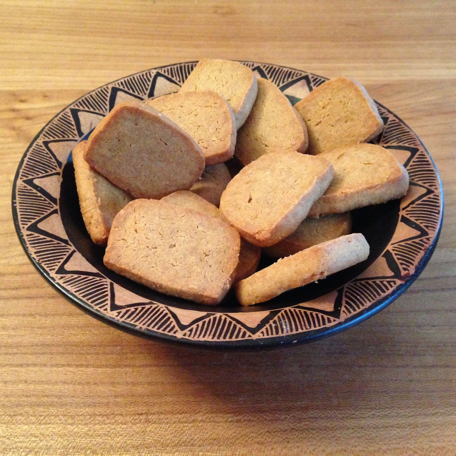 Sablés au parmesan et à la farine de châtaigne