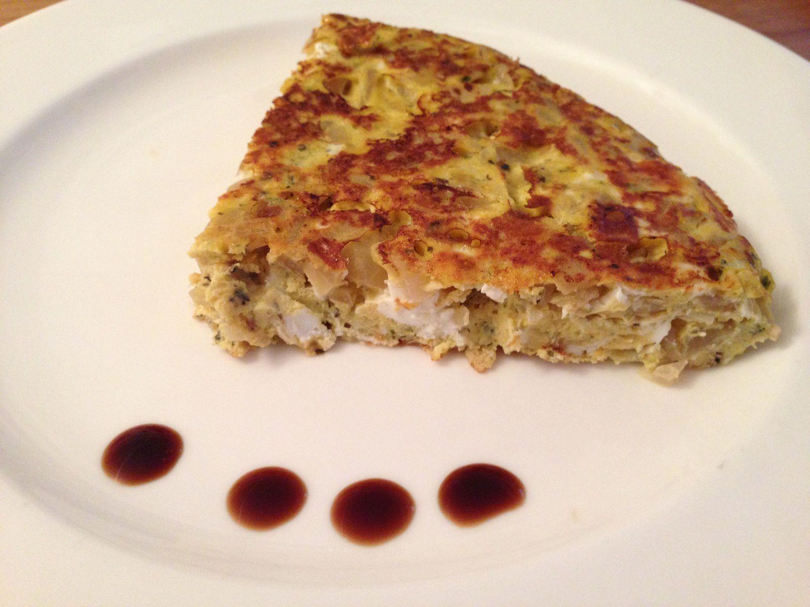Frittata aux oignons doux et au vinaigre balsamique