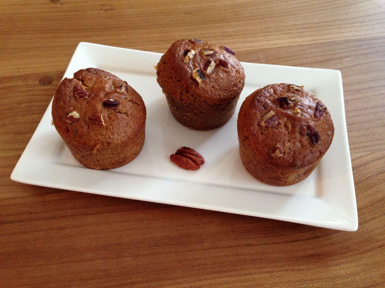 Muffins au chocolat blanc et noix de pécan