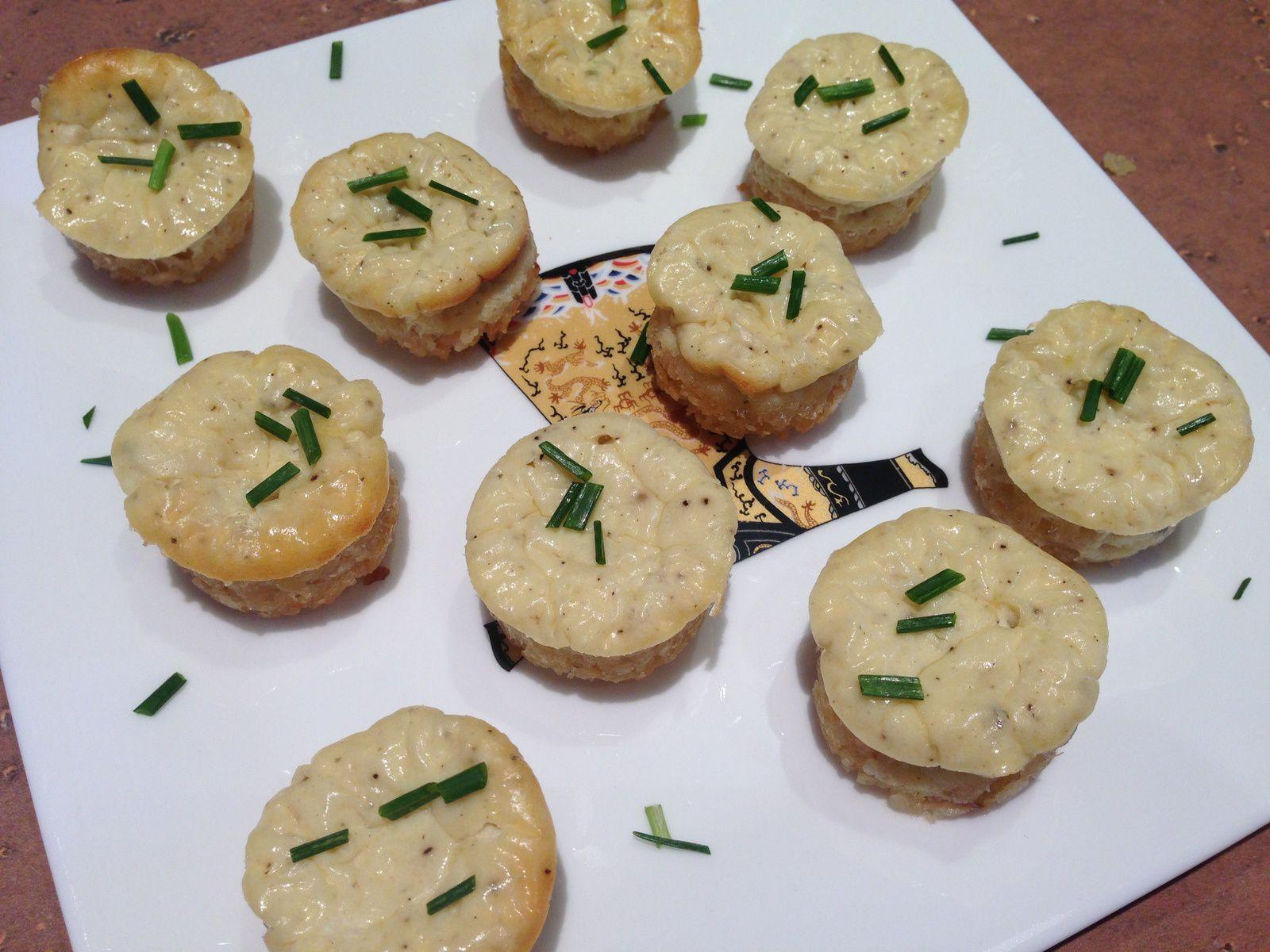 Mini cheesecake salé
