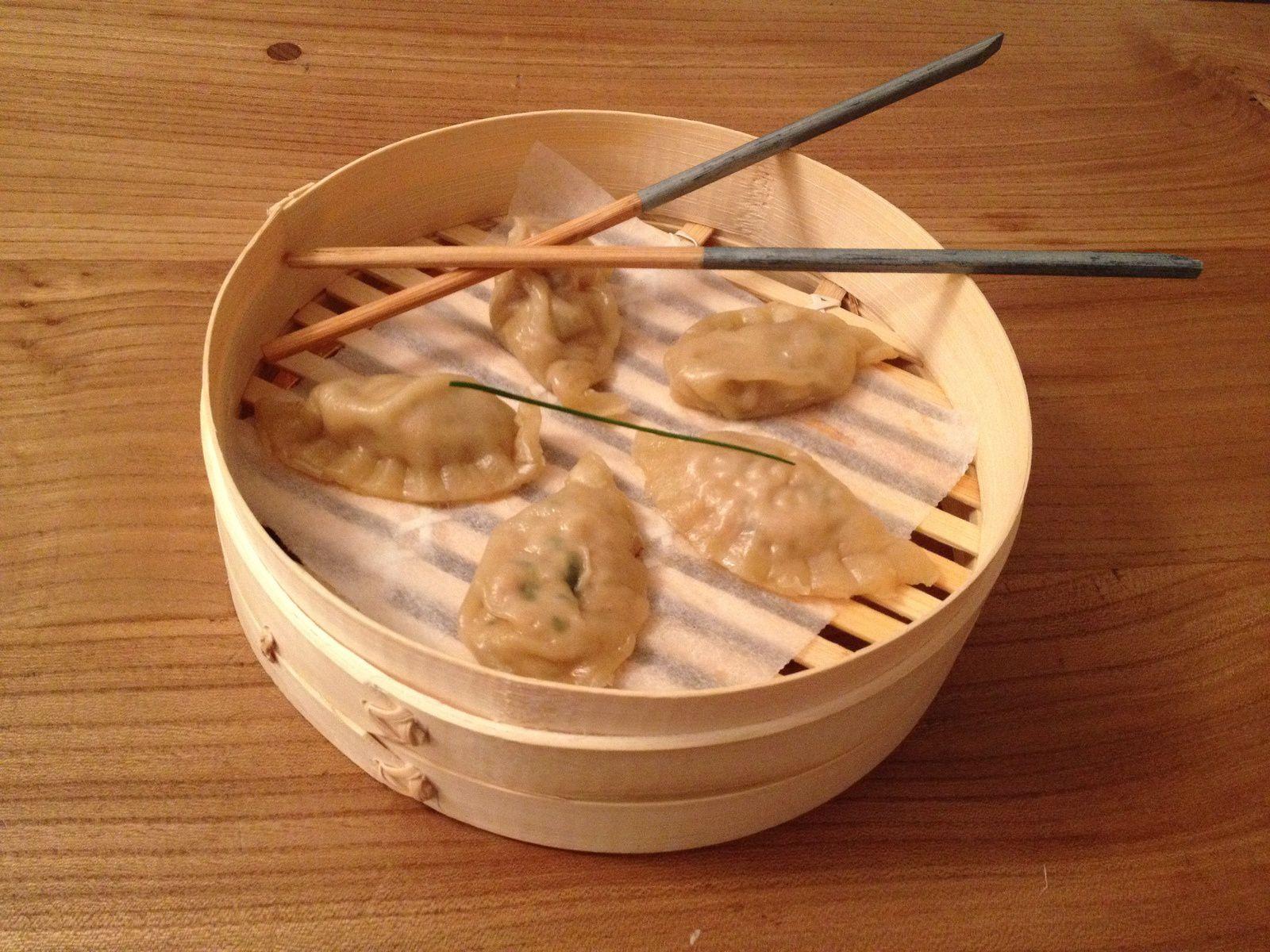 Raviolis chinois saumon et gingembre
