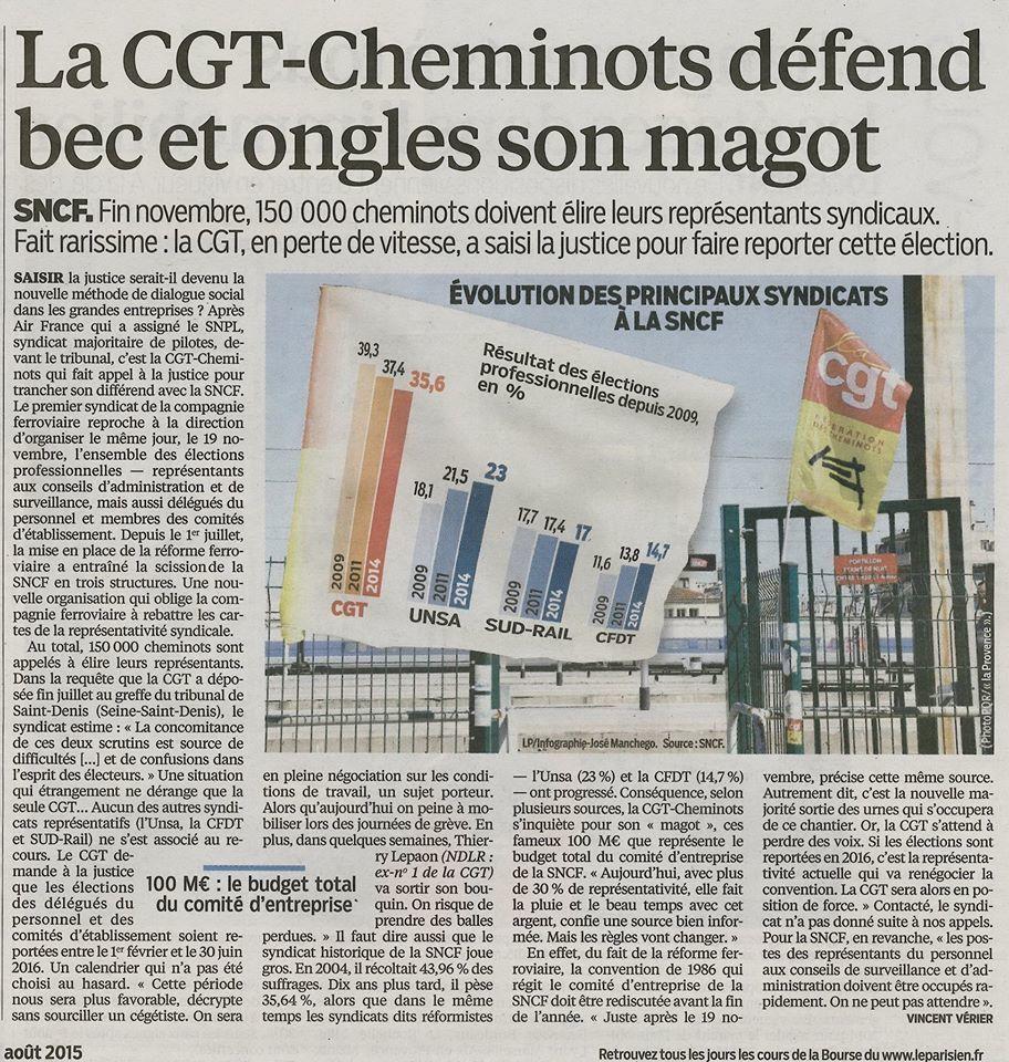La CGT défend sont magaux