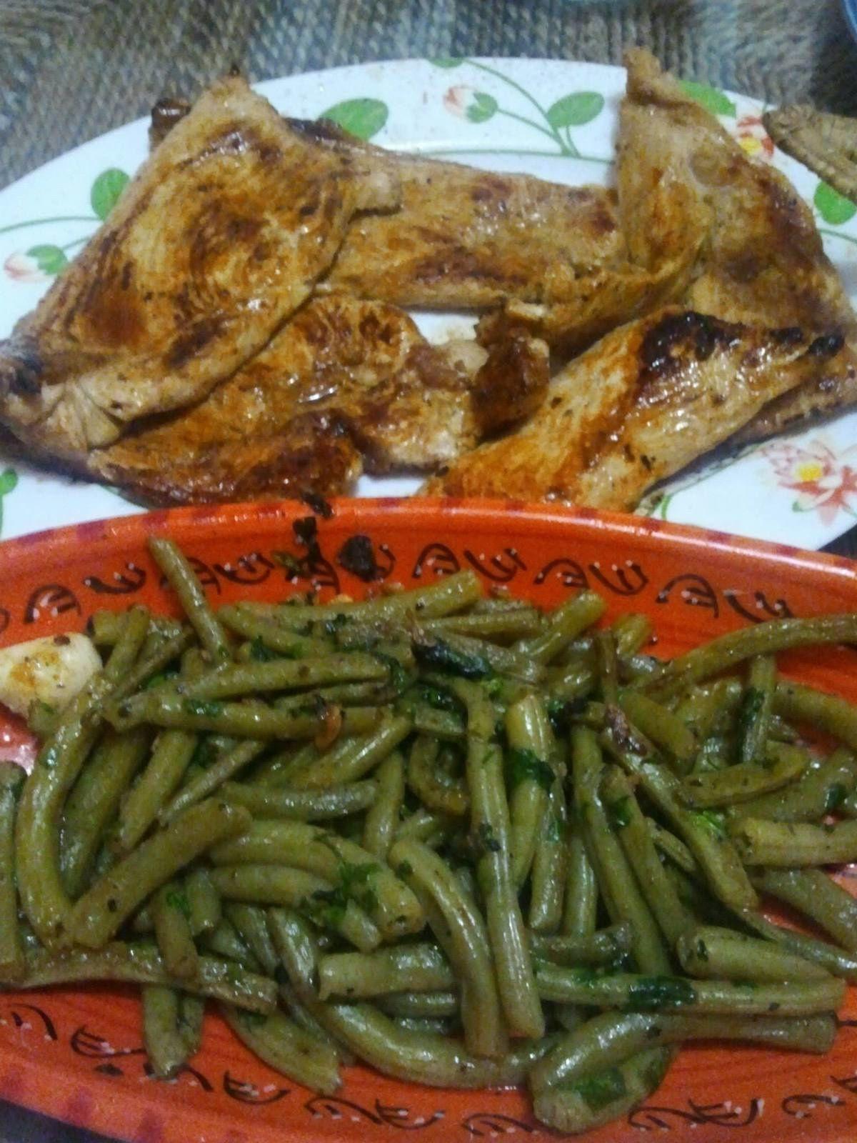 filet de boeuf et escalope de poulet à la plancha et leurs légumes et sauce au roquefort