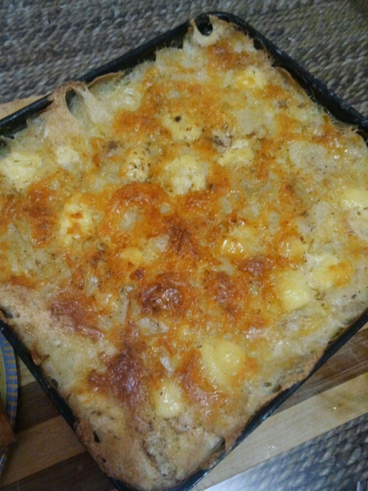 gratin de pomme de terre aux oignons