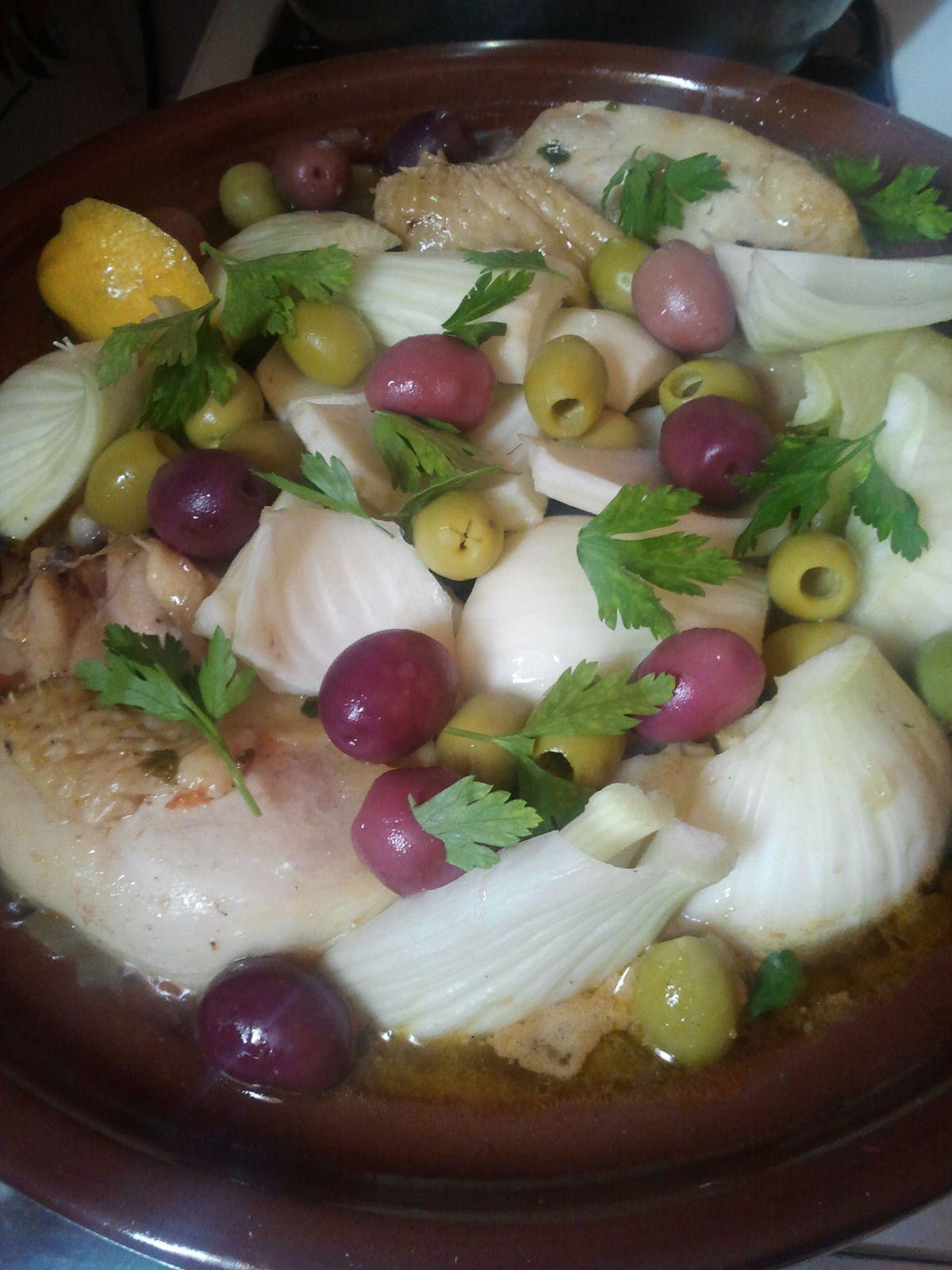 tajine besbess (tajine au fenouil et olives)