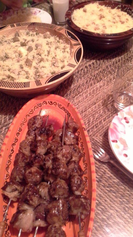 &quot&#x3B;MELFOUF&quot&#x3B; Brochettes de foie d'agneau  et Mesfouf