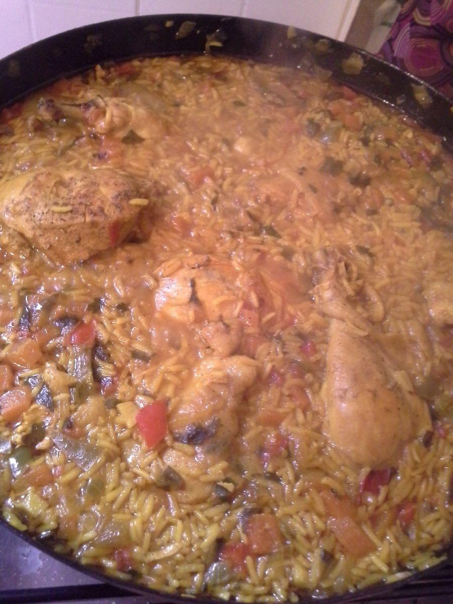 Paella  au poulet
