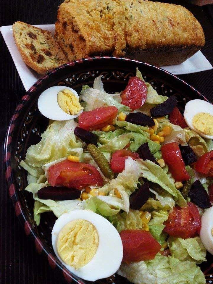 Cake aux Anchois et tomates séchées