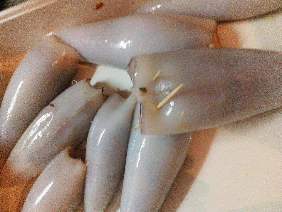 Calamars farcis sauce au curry