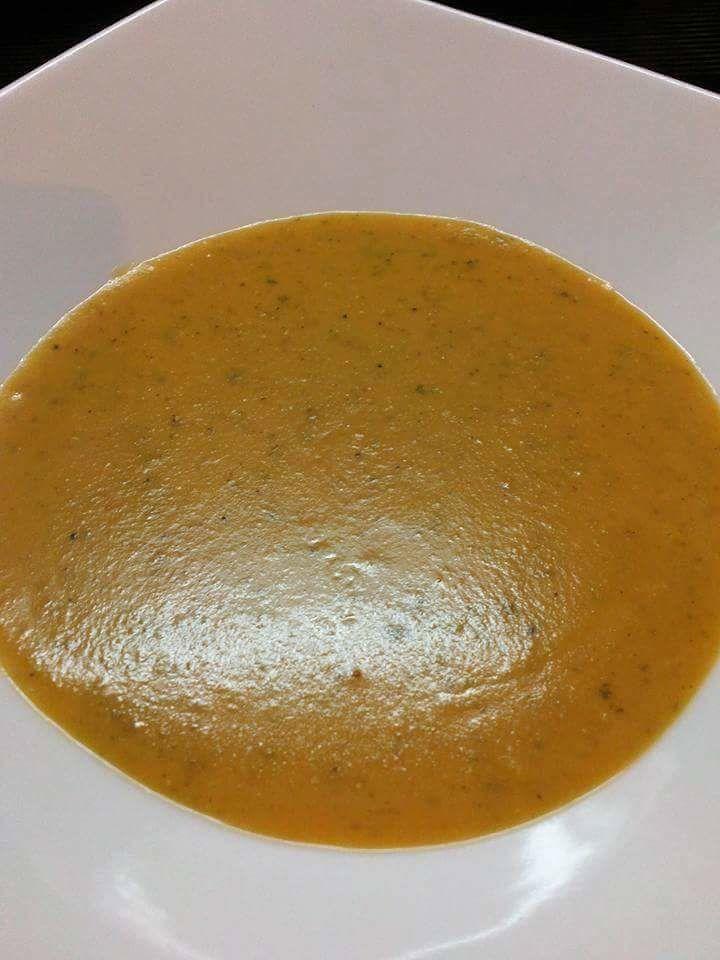 Soupe de lentilles corail à la courge
