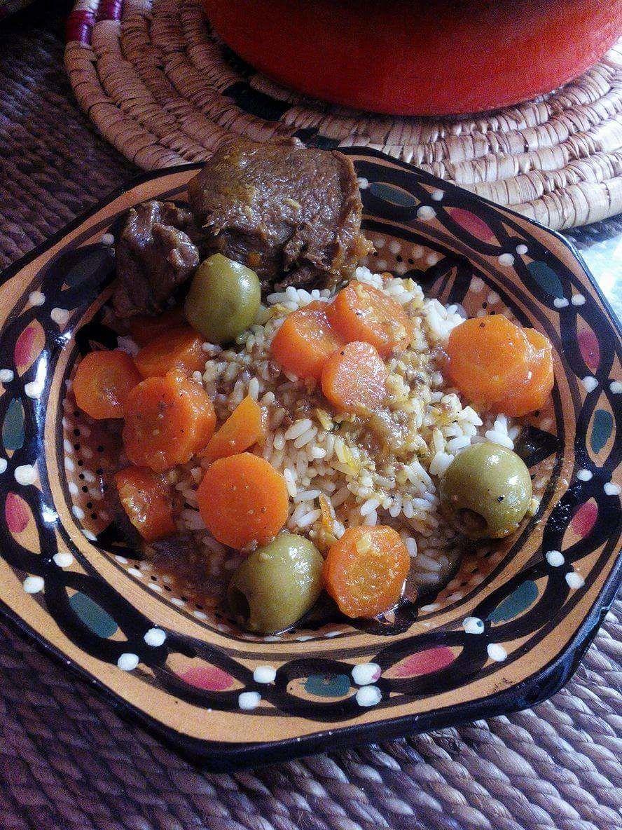 Ragoût  aux carottes et olives