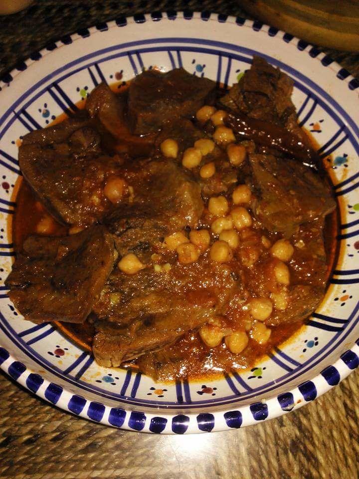 Chtitha lsan&quot&#x3B;langue de veau en sauce relevée &quot&#x3B;