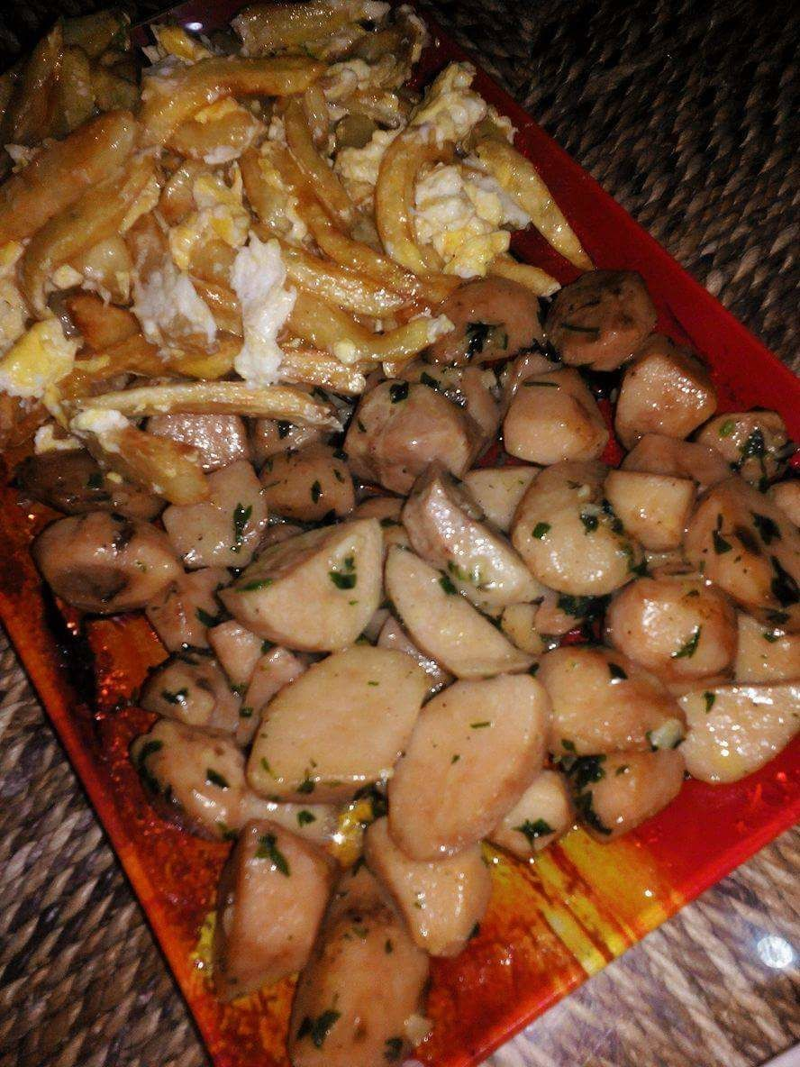 Frites-omelette aux truffes