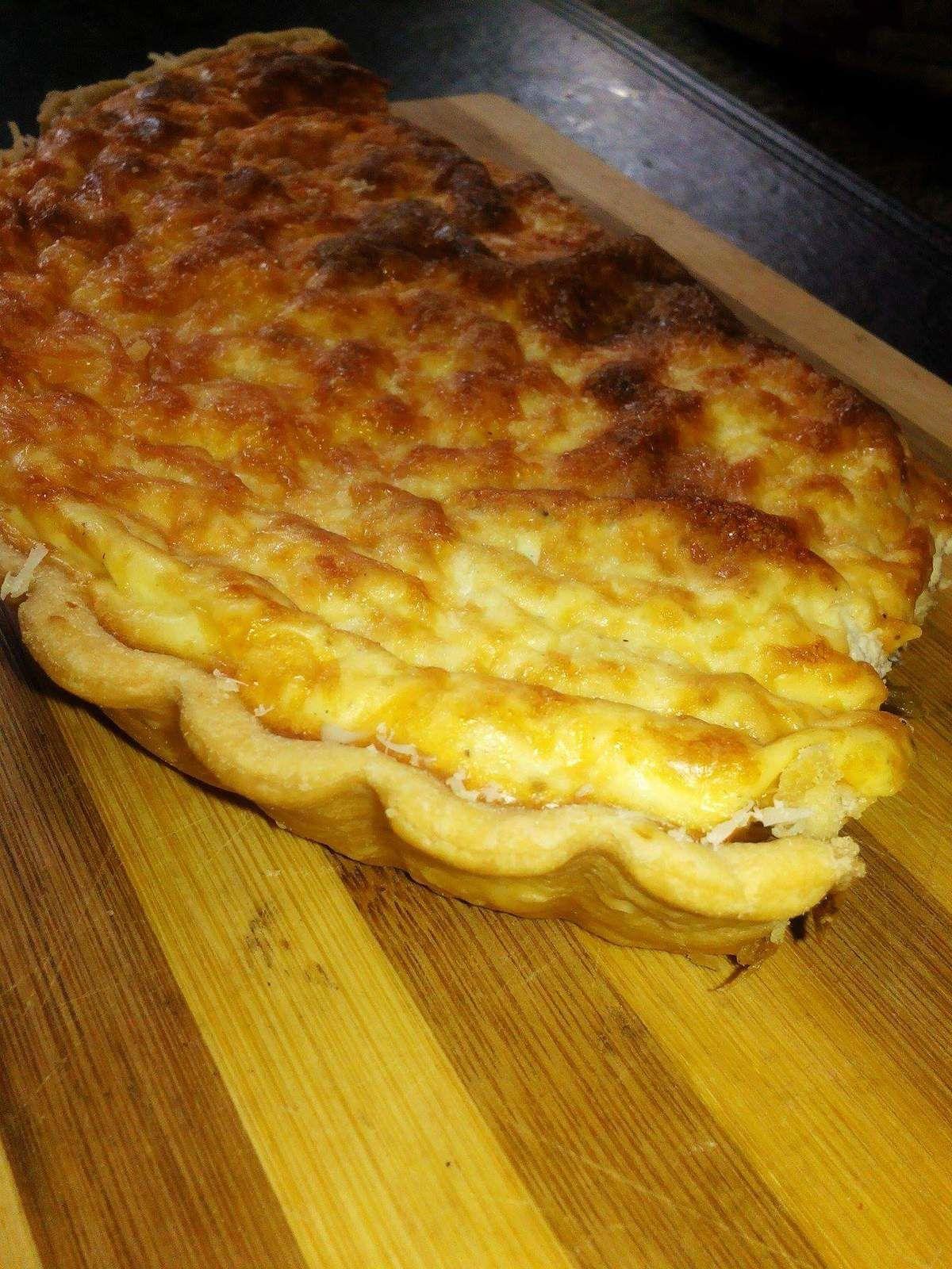 Quiche aux poireaux et creme de fromage