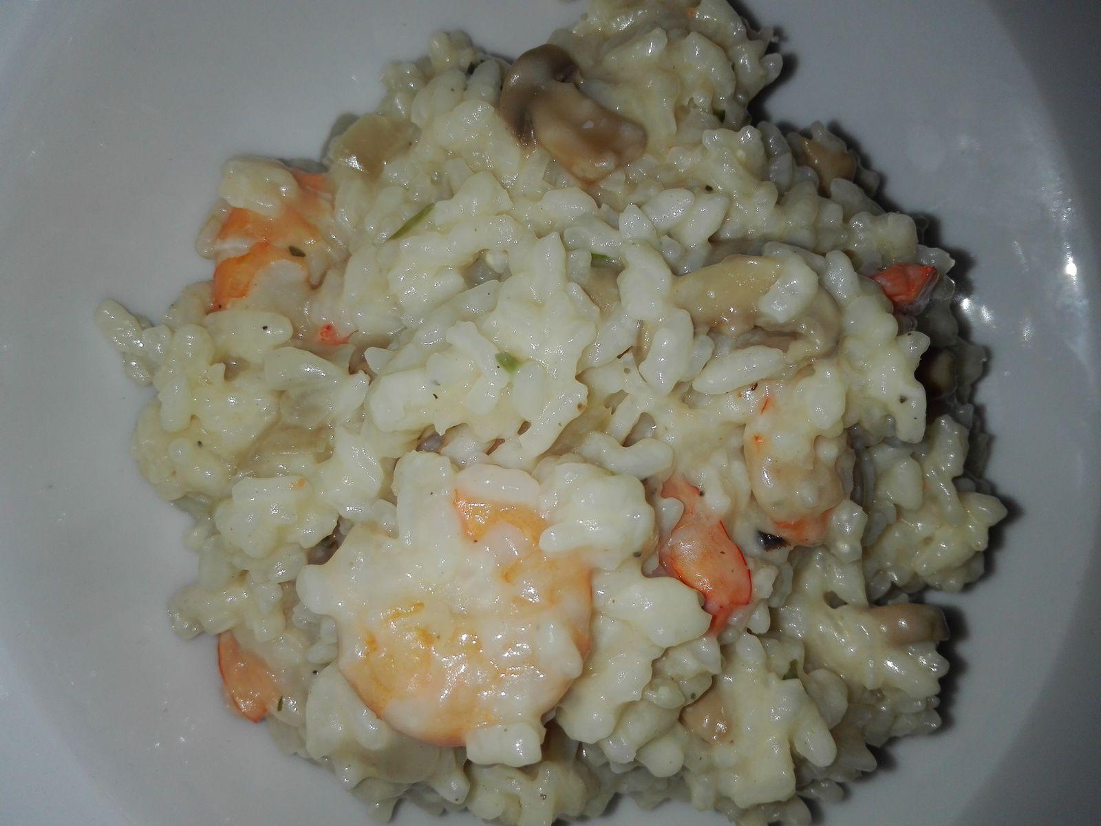 Risotto crémeux aux crevettes