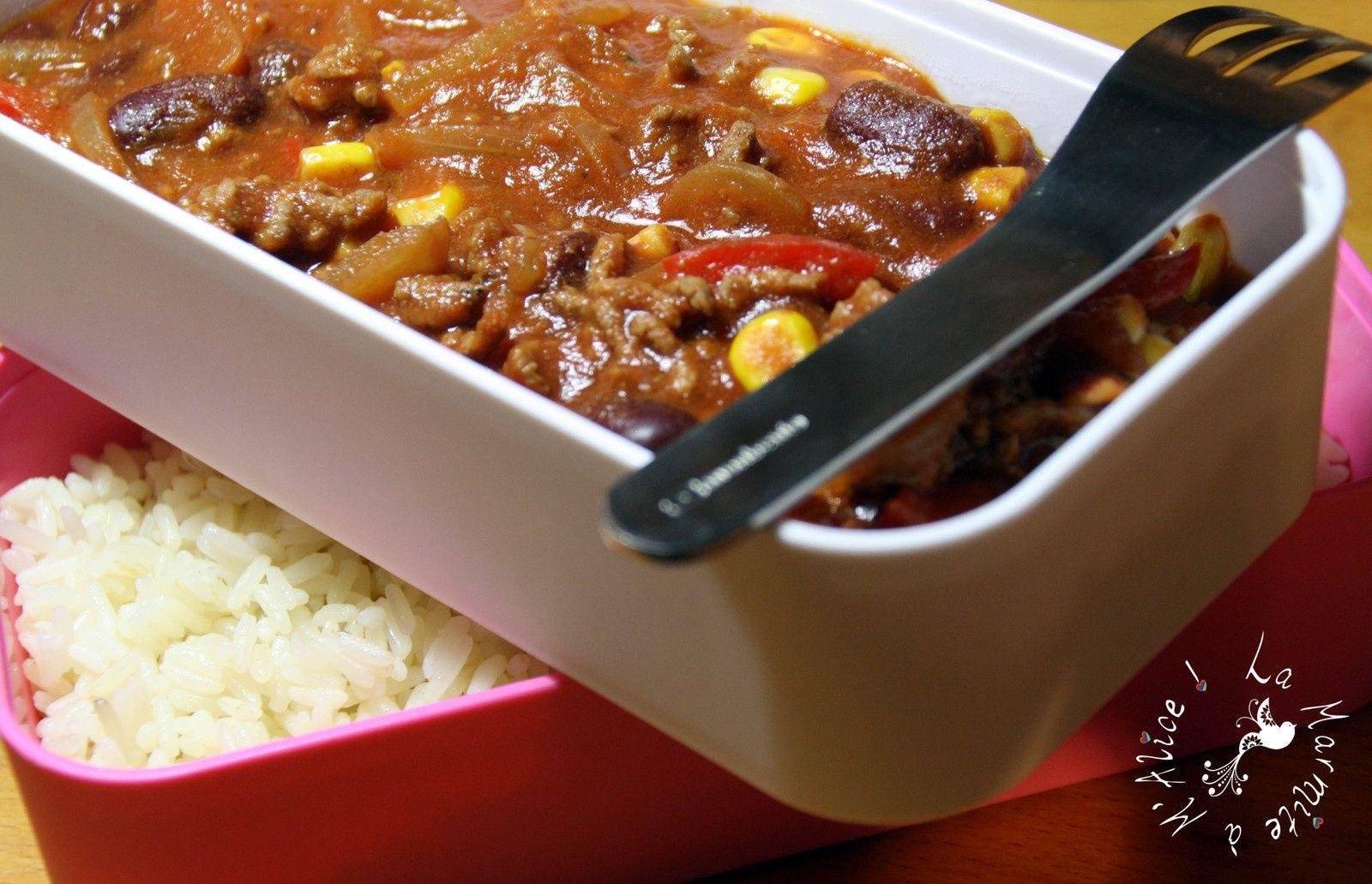 Chili Con Carne Express {J'emporte ma gamelle #3}