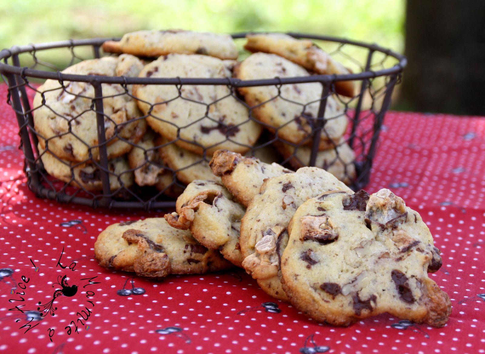Les Cookies de NY (&amp&#x3B; de Melle Banane) Chocolat Noir, Nougat, Amandes &amp&#x3B; Pécan