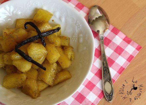 Ananas Rôti Rhum~Vanille
