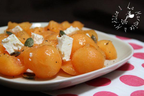 Salade Melon &amp&#x3B; Fêta