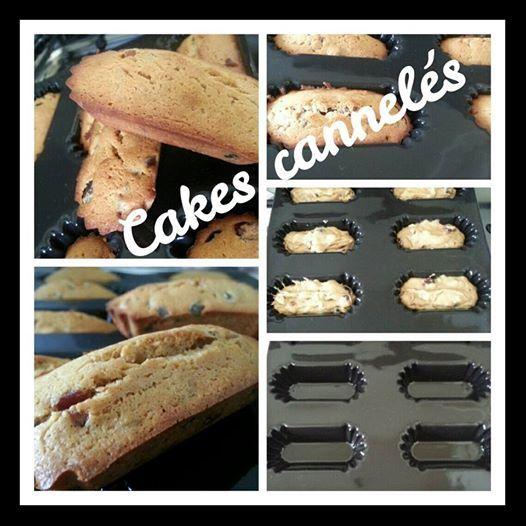 Cakes Cannelés aux cranberries, fruits confits et thé noir