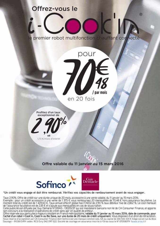 Financement I-cook'in Promotionnel