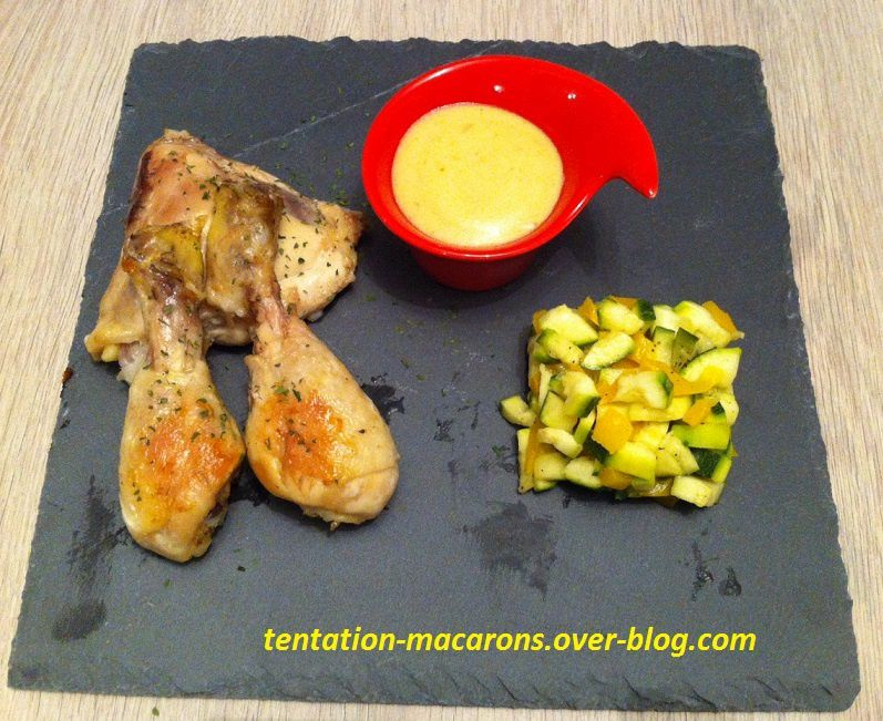 Poulet sauce moutarde-curry