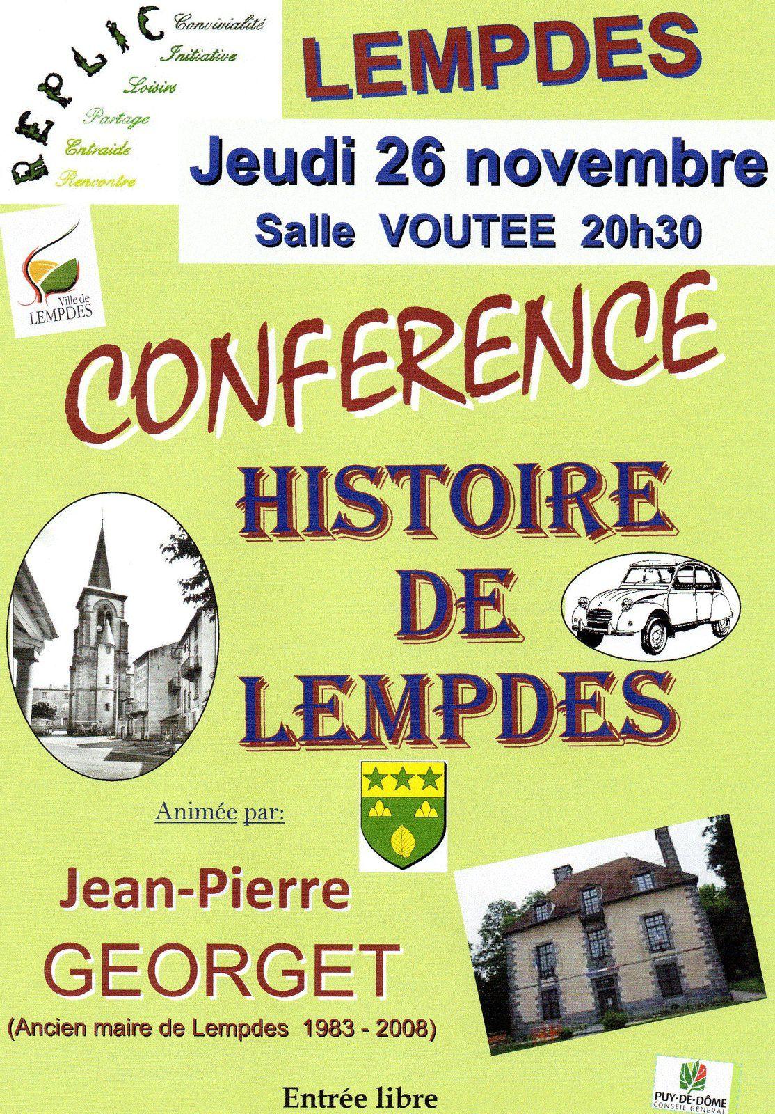 REPLIC Conférence Histoire de Lempdes