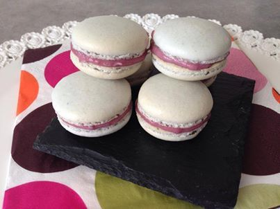 macarons aux fruits rouge