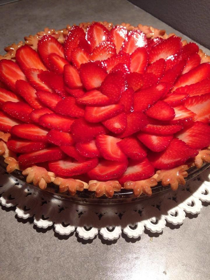 Tarte au fraises, pâte sablé spéculoos