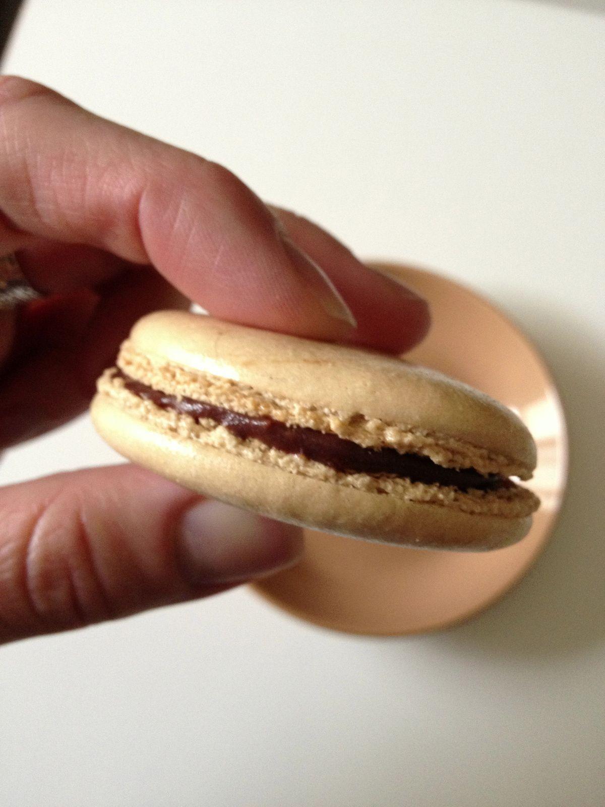 macarons ganache praliné chocolat
