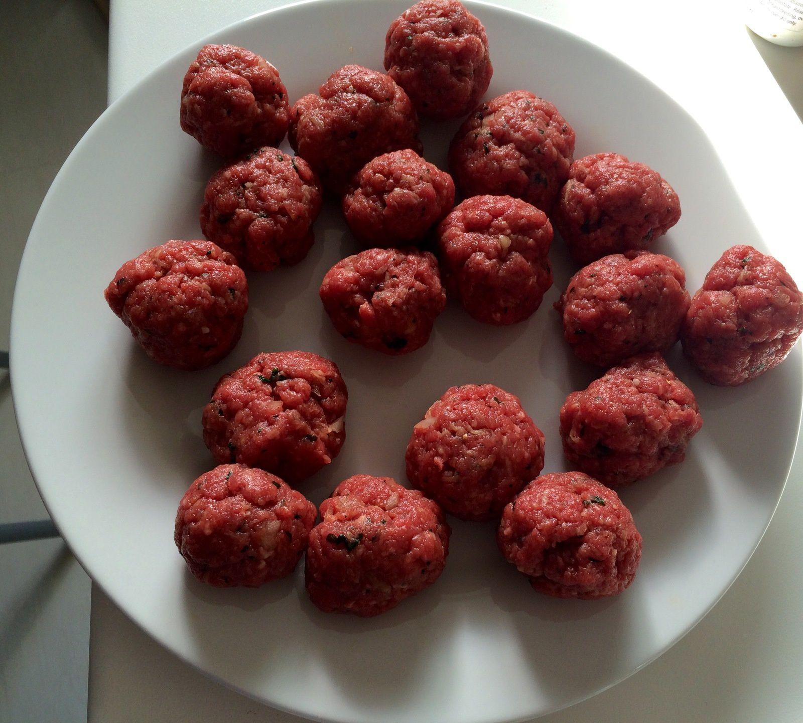 Boulettes à la sauce tomates