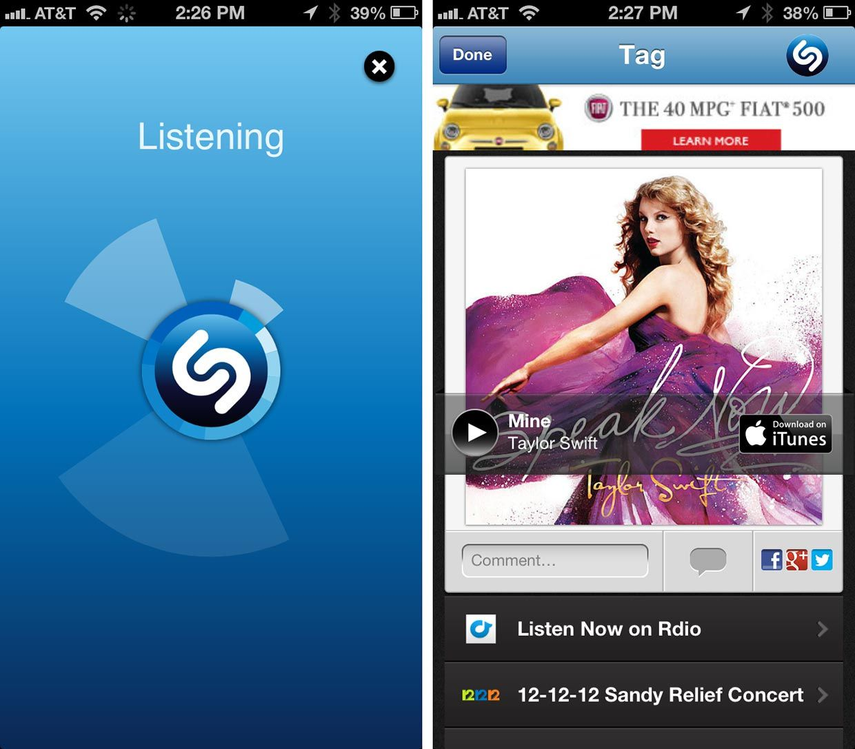 Test Shazam vs Soundhound