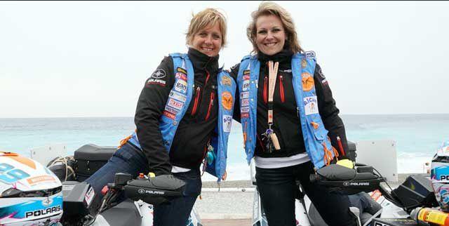 Betty et Sarah , vainqueurs en quad !